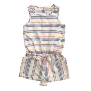 Zara striped romper 2-3